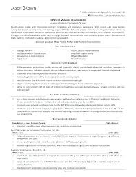 Project Coordinator Sample Resume It Manager Residential