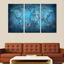 no frame large canvas art blue map hd wall art picture canvas print painting for living room decoration home picture picture on the wall canvas painting