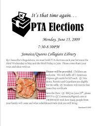 Pta Elections Flyer Pta Elections 6 15 09 7 30pm Pfa Essentials Pta