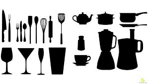 kitchen utensils silhouette vector free. Kitchen Utensils Silhouette Vector Free E