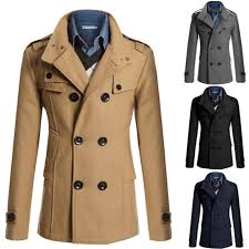 fashion style winter coat man 2019 new double ted trench coat mens casual slim outwear coats manteau homme male overcoat furry black coat denim jacket