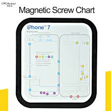 Iphone 7 Screw Size Chart 12pcs Lot Magnetic Screw Chart For Iphone X 8 Mat 8 Plus 6 6plus 6s 7 7 Plus Work Keeper Guide Pad Plate Repair For Xr Xs Max