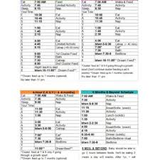 Daily Routine Chart For 10 Year Old 50 Printable Baby Feeding Charts Newborn Feeding Schedule