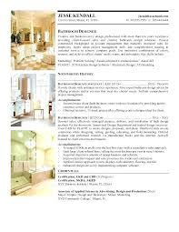 Interior Designer Resume Sample – Slint.co