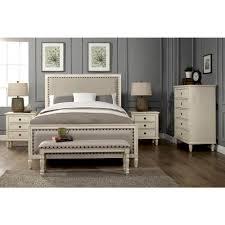 LuXeo Cambridge 5-Piece Queen Bedroom Set with Solid Wood and ...