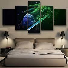 Living Room Canvas Paintings Popular Zelda Wall Art Buy Cheap Zelda Wall Art Lots From China