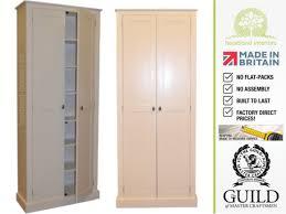 Tall Kitchen Storage Cabinet Solid Wood 2m Tall Kitchen Pantry Larder Storage Cabinet Cupboard