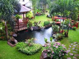 Exterior Garden Design In Classic Outdoor Ideas Pond Metal Fence New Exterior Garden Design