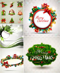 marry christmas holiday frames vector