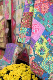 Kathy Doughtys Quilt - met her at 2013 Sisters Outdoor Quilt Show ... & Kathy Doughty's Patchwork Quilt Adamdwight.com