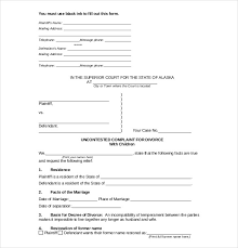 Court Document Templates Divorce Agreement Template 12 Free Word Pdf Documents Download