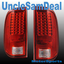 eagle lighting distributors inc. ford f250 f350 f450 euro red lens led l.e.d.tail lights direct plug in pair (fits: ford f-250 super duty) eagle lighting distributors inc
