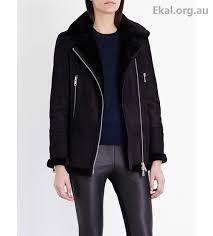 women s coats jackets reiss black jackets starling shearling aviator jacket 12bt582