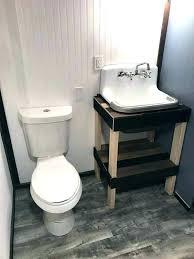 tiny house bathroom sink toilet by veterans community project ideas enchanting tin