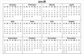 Best Free 2018 New Year Calendar For Excel Word Ms Office Template
