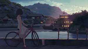 新海誠 自転車と少女