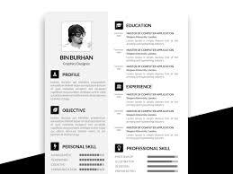 Psd Resume Template Free Download Resumekraft
