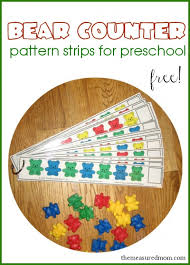 Free Bear Counter Pattern Strips for Preschoolers - The Measured Mom