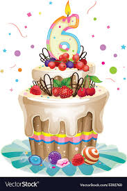 Happy Birthday Cake 6 Royalty Free Vector Image