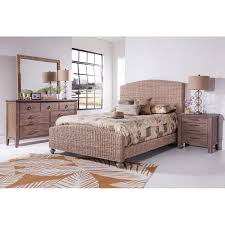 Driftwood Bedroom Furniture Panama Jack Driftwood Woven Panel Bed Wayfair