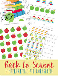 Back to School Kindergarten Math Worksheets
