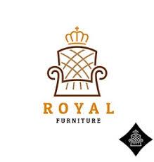 furniture logo. Wonderful Furniture Linear Style Furniture Logo With Crown Vector  In Furniture Logo