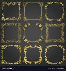 gold frame border square. Gold Frame Border Square O