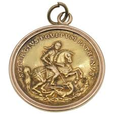 antique st george and the dragon gold