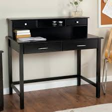 black writing desk with drawers furniture astonishing schemes of writing desk with hutch as the black