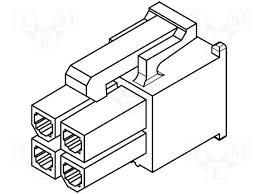 039012020 39 01 2020 5557 02r molex plug wire wire pcb female 039013025 39 01 3025 5557 02r bl plug wire
