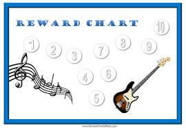 Sticker Charts With A Music Theme