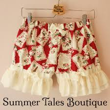 <b>Letters</b> from Paris <b>Red</b> Short <b>Bloomers</b> – Summer Tales Boutique