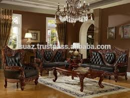 classic sofa designs. Classic Furniture Luxury Living Room Wooden Sofa Set , Solid Designs