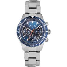 men s rotary gb00358 05 watch official uk shop francis gaye rotary men s stainless steel blue dial chronograph watch gb00358 05