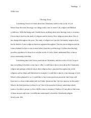 theology liberty university course hero 2 pages theology essay