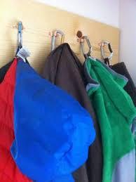 Carabiner Coat Rack Just finished the coat rack Repurposed slate and carabiners home 40