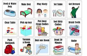 Printable Chore Chart Upsidedown Kate Kids Pinterest