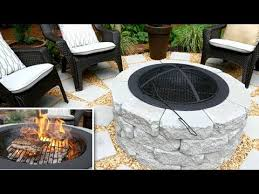 diy fire pit grill patio