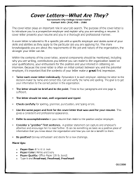 What Are Cover Letters 1 Necessary Standard Letter