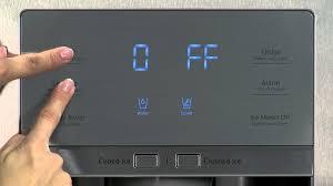 Uncategorized Samsung Refrigerator Energy Saver disabling cooling off mode  samsung showcase side by refrigerator rh22h9010 youtube