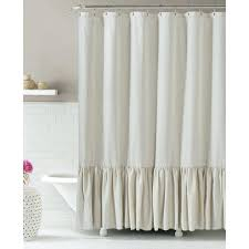 natural linen shower curtain at home no mold