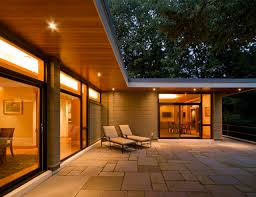 Deep Overhang Shed Roof Soffit Lighting And Clear SidingSoffit Lighting Exterior