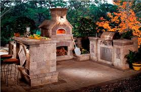 rustic outdoor kitchen designs with pizza oven