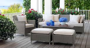 Light Gray Wicker Patio Furniture
