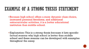 Thesis statement  th grade ELA Common Core Lesson Plans Thesis statement activity middle school then
