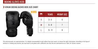 Boxing Glove Size Chart Boxing Glove Sizes In Oz Images Gloves And Descriptions