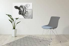 Esszimmer Stuhl Stühle 2er Wohnzimmerstuhl Modern Retro Schalenstuhl Grau Blau