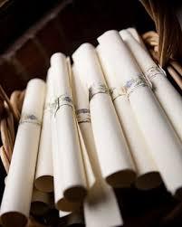 Wedding Program Scroll Wedding Program Scrolls Once Wed