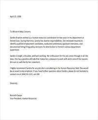 Letter Of Recommendation For Job 2018 Letters Recommendation Letter