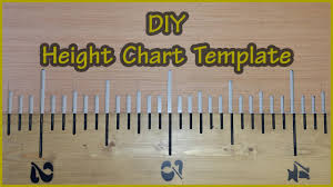 Diy Growth Chart Stencil Height Chart Router Template Build